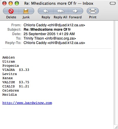 sample spam